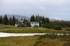 Thingvallakirkja, eine der vielen isländischen Kirchen Lizenzfreies Stockfoto
