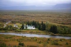 Thingvallakirkja, eine der vielen isländischen Kirchen Lizenzfreie Stockfotografie