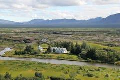 Thingvellir国家公园,冰岛。 免版税库存照片