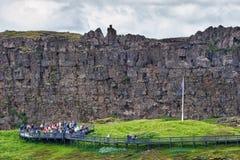 Thingvellir,冰岛- 2014年7月20日 库存图片