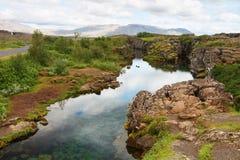 Thingvellir, Thingvallavatn,冰岛 免版税图库摄影
