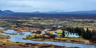 Thingvellir (Þingvellir) park narodowy zdjęcie stock