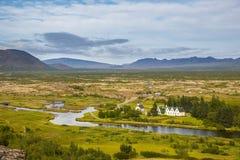 Thingvellir Исландия стоковая фотография rf