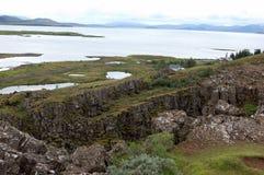 thingvellir национального парка Исландии стоковые изображения