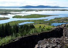 thingvellir национального парка Исландии Стоковые Фотографии RF