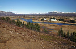 thingvellir Royaltyfria Foton