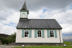 Thingvellir church, Iceland Royalty Free Stock Images