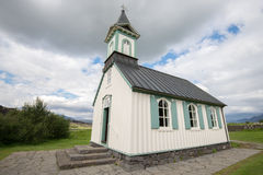 Thingvellir church, Iceland Royalty Free Stock Image