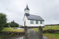 Thingvellir church Stock Photo