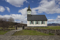 Thingvellir Church Royalty Free Stock Image