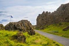 Thingvellir iceland arkivfoto