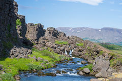 Thingvellir iceland national park Royalty Free Stock Photos