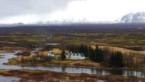 Thingvellir in IJsland 4K stock footage