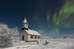 Thingvellir kyrka, Thingvellir nationalpark, Island Royaltyfria Foton