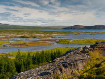 Thingvellir lake (Thingvallavatn) Stock Images