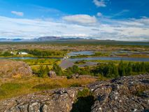 Thingvellir lakes Stock Photography