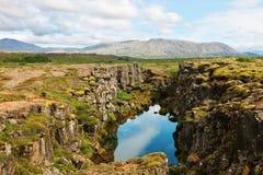 Thingvellir nationaal park Stock Afbeelding