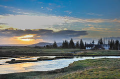 Thingvellir Nationaal Park IJsland stock foto's