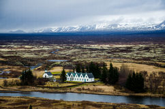 Thingvellir Nationaal Park in IJsland Stock Foto's