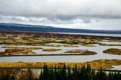Thingvellir Nationaal Park in IJsland - 3 Stock Foto's
