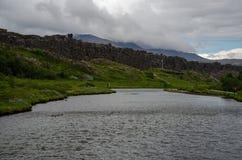 Thingvellir National Park - Þingvellir, Iceland August 2018 royalty free stock images