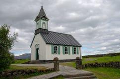 Thingvellir National Park, a church - Þingvellir, Iceland August 2018 stock photography