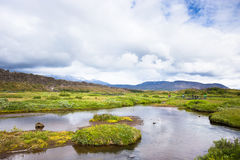 Thingvellir National Park - famous area in Iceland right on the spot where atlantic tectonic plates meets. UNESCO World Royalty Free Stock Image