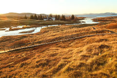 Thingvellir national park, Golden Circle tour, in Iceland Stock Photo