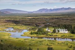 Thingvellir national park Royalty Free Stock Image