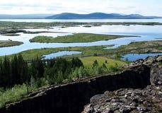 Thingvellir National Park - Iceland. Landscape at Þingvellir / Thingvellir National Park Iceland Royalty Free Stock Photos