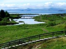 Thingvellir National Park - Iceland. Landscape at Thingvellir National Park Iceland Royalty Free Stock Photos