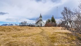 Thingvellir National Park, Iceland Rural Church Royalty Free Stock Photos