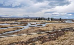 Thingvellir National Park, Iceland Stairs and Walkway Stock Photography