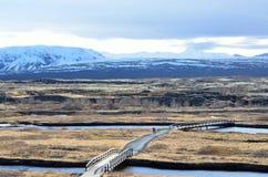 Thingvellir national park, iceland on a sunny day stock photo