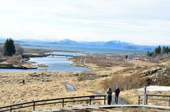 Thingvellir national park, iceland on a sunny day royalty free stock photo