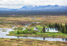 Thingvellir national park, Iceland. Royalty Free Stock Photography