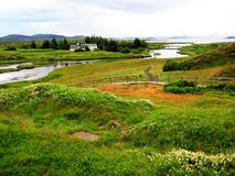 Thingvellir National Park (Iceland). Thingvellir National Park was founded in 1930, in southwestern Iceland, near the Reykjanes peninsula and the Hengill Royalty Free Stock Photo