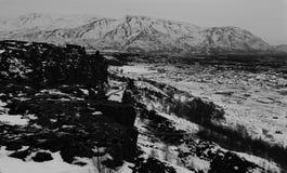 Thingvellir National Park. Mid Atlantice ridge breaking up in Thingvellir national park Iceland royalty free stock photography