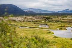 Thingvellir National Park rift valley in Iceland. Famous Thingvellir National Park rift valley in Iceland Stock Image