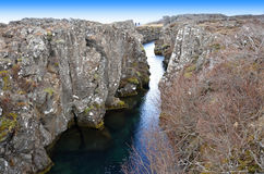 The Thingvellir national park Royalty Free Stock Images