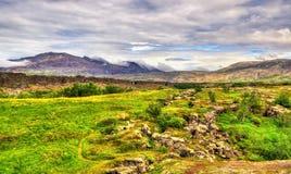 Thingvellir National Park, a UNESCO World Heritage Site - Iceland Stock Photography