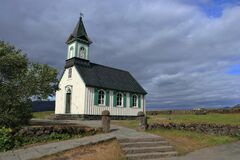 Historic Church at Thingvellir, Thingvellir National Park, Western Iceland