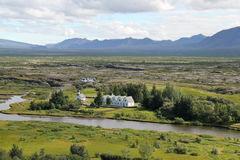 Thingvellir nationalpark, Island. Royaltyfri Foto