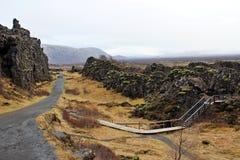 Thingvellir park narodowy Obrazy Royalty Free