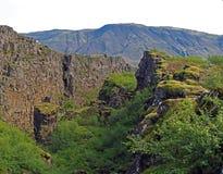 Thingvellir park narodowy Iceland Europe lithosferic szczelina - północnoamerykański - obrazy royalty free