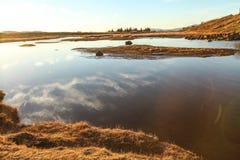 Thingvellir park narodowy, Złota okrąg wycieczka turysyczna w Iceland, zdjęcie stock