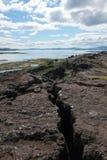 Thingvellir - parque nacional, Islândia foto de stock