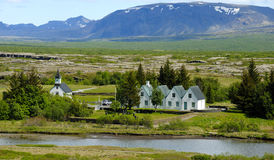Thingvellir, Small Village Stock Photo