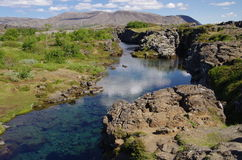 Thingvellir stream, Iceland Royalty Free Stock Photo