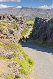 Thingvellir valley  - Iceland. Royalty Free Stock Photography